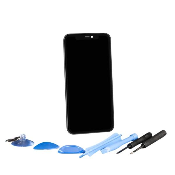 Apple iPhone 11 Retina Display Touchscreen schwarz mit Werkzeugset