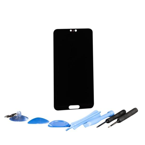 Huawei P20 Display Touchscreen Bildschirm mit Rahmen schwarz mit Werkzeugset