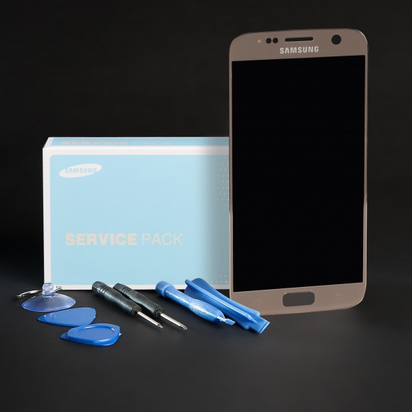 Original Samsung Galaxy S7 SM-G930F Display Kompletteinheit gold